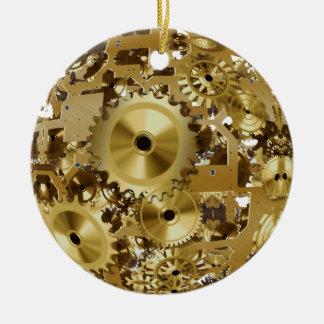 Steampunk Verzierung Rundes Keramik Ornament