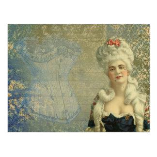 Steampunk viktorianische Dame Vintage Corset Postkarte