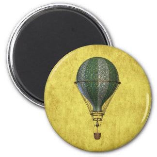 Steampunk viktorianischer Ballon Runder Magnet 5,7 Cm