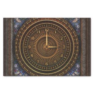 Steampunk Vintages altmodisches kupfernes Uhrwerk Seidenpapier