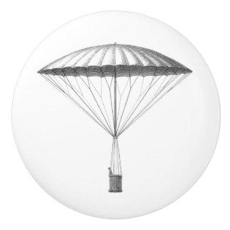 Steampunk Vintages Heißluft-Ballon-Zeichnen Keramikknauf