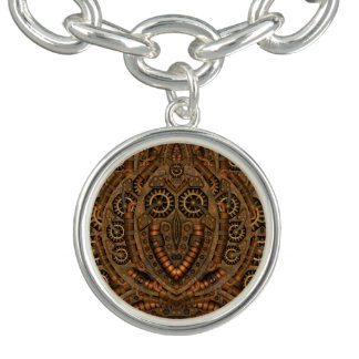 Steampunk Vintages Muster-Charme-Armband Charm Armband
