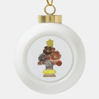 Steampunk Weihnachtsbaum-Flitter Keramik Kugel-Ornament