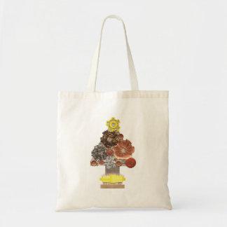 Steampunk Weihnachtsbaum keine Hintergrund-Tasche Tragetasche