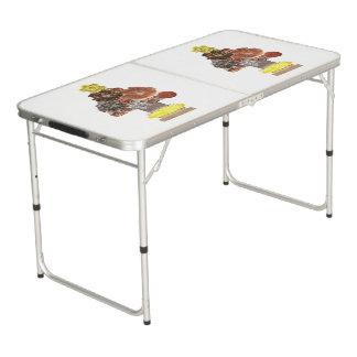 Steampunk Weihnachtsbaum-Klingeln Pong Tabelle Beer Pong Tisch