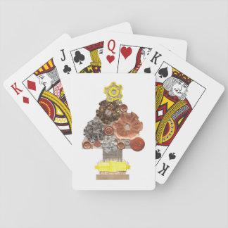 Steampunk Weihnachtsbaum-Spielkarten Spielkarten