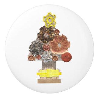 Steampunk Weihnachtsbaum-Türknauf Keramikknauf