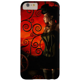 Steampunk, wunderbare steampunk Dame in der Nacht Barely There iPhone 6 Plus Hülle