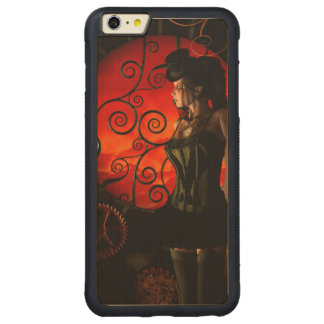 Steampunk, wunderbare steampunk Dame in der Nacht Carved® Maple iPhone 6 Plus Bumper Hülle