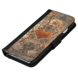 Steampunk, wunderbares Herz gemacht vom rostigen Geldbeutel Hülle Für Das iPhone 6/6s