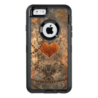 Steampunk, wunderbares Herz gemacht vom rostigen OtterBox iPhone 6/6s Hülle