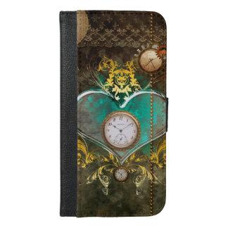 Steampunk, wunderbares Herz iPhone 6/6s Plus Geldbeutel Hülle