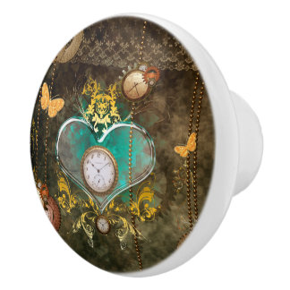 Steampunk, wunderbares Herz Keramikknauf
