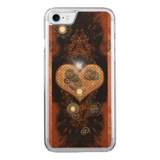 Steampunk, wunderbares Herz mit Uhren und Gängen Carved iPhone 8/7 Hülle