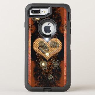 Steampunk, wunderbares Herz OtterBox Defender iPhone 8 Plus/7 Plus Hülle
