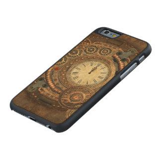 Steampunk, wunderbares Uhrwerk Carved® iPhone 6 Hülle Ahorn