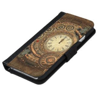 Steampunk, wunderbares Uhrwerk iPhone 6/6s Geldbeutel Hülle