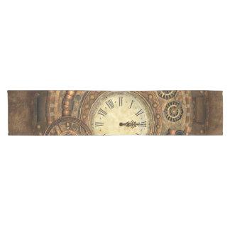 Steampunk, wunderbares Uhrwerk Kurzer Tischläufer