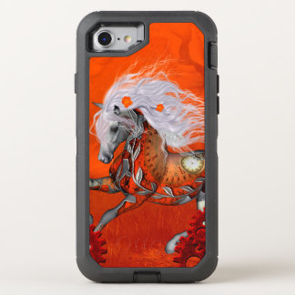 Steampunk, wunderbares wildes steampunk Pferd OtterBox Defender iPhone 8/7 Hülle
