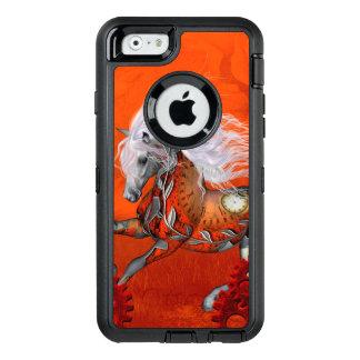 Steampunk, wunderbares wildes steampunk Pferd OtterBox iPhone 6/6s Hülle