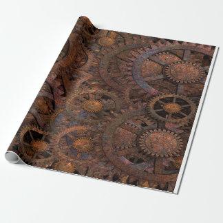 Steampunk Zahn-Rad-Packpapier Geschenkpapier