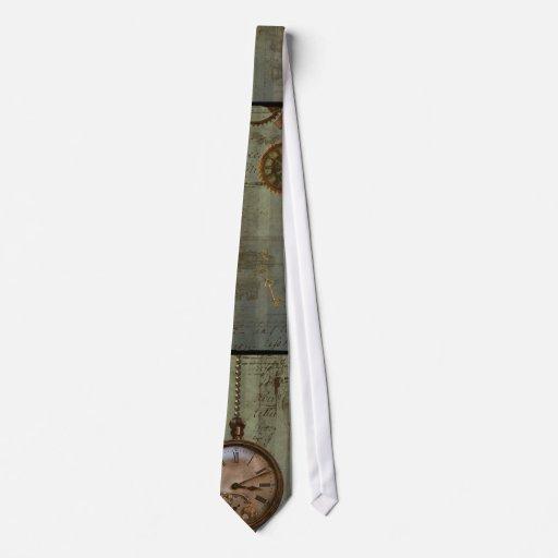 Steampunk Zeit-Maschine Bedruckte Krawatte