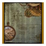 Steampunk Zeit-Maschine Einladungen