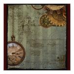 Steampunk Zeit-Maschine Individuelle Einladungen
