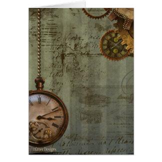 Steampunk Zeit-Maschine Karte