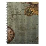 Steampunk Zeit-Maschine Notiz Buch