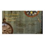 Steampunk Zeit-Maschinen-Geschäfts-Visitenkarten