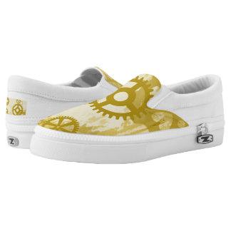 Steampunk Zipz Beleg auf Schuhen Slip-On Sneaker