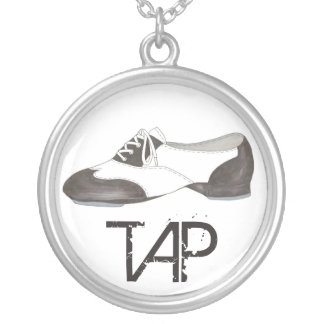 Stechen Sie Schuh-Klopfer-Tanz-Lehrer an, den Versilberte Kette