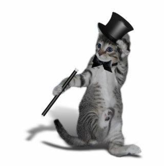 Stechen Sie Tanzen-Katze an Freistehende Fotoskulptur