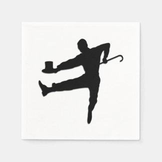 Stechen Sie Tänzer an Papierserviette