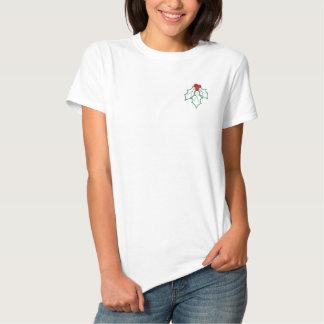 Stechpalme gesticktes WeihnachtsShirt *TBA Besticktes T-Shirt
