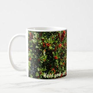 Stechpalme mit Beeren Kaffeetasse