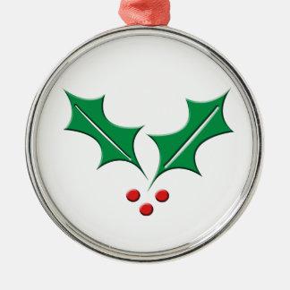 Stechpalme Silbernes Ornament