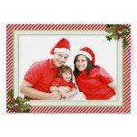 Stechpalme und Streifen, die Weihnachtskarte falte Grußkarte