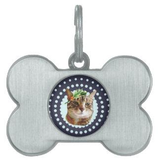 Stechpalmelustiges Tabby-Katzen-Weihnachten Tiermarke