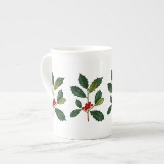 Stechpalmen-Beeren-Knochen-China-Tee-Tasse Porzellantasse
