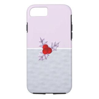 Stechpalmen-frohe Weihnacht-Schnee-Lavendel iPhone iPhone 8/7 Hülle