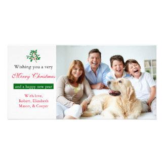 """Stechpalmen-""""frohe Weihnacht-"""" Weiß - Foto-Karte Karte"""