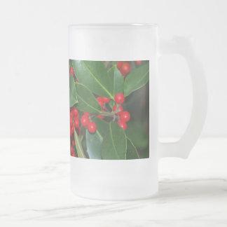 Stechpalmen-Glas Mattglas Bierglas