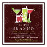 Stechpalmen-lustige Weihnachtscocktail-Party Einladungskarten