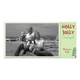 Stechpalmen-lustige WeihnachtsFoto-Karte Personalisierte Photo Karte
