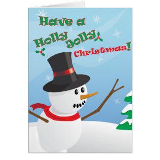 Stechpalmen-lustige Weihnachtskarte Grußkarte