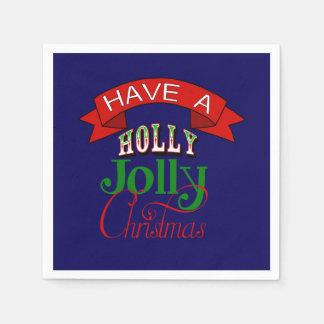 Stechpalmen-lustige Weihnachtsserviette Serviette