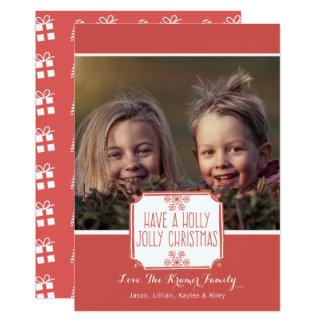 Stechpalmen-lustiges Weihnachten der Karte