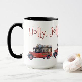 Stechpalmen-lustiges WeihnachtsVintages Tasse